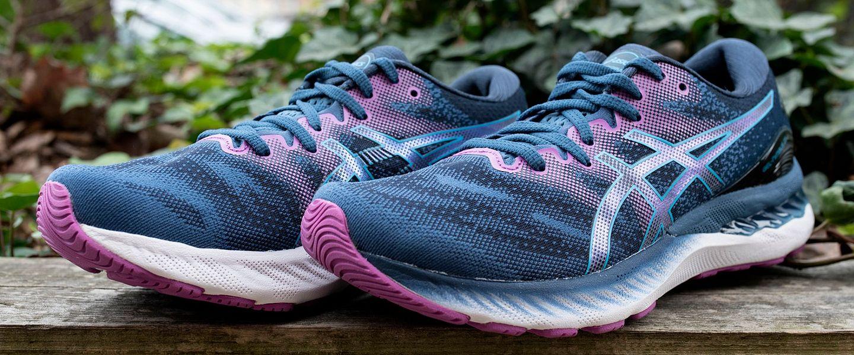 A pair of the ASICS GEL-Nimbus 23 shoes