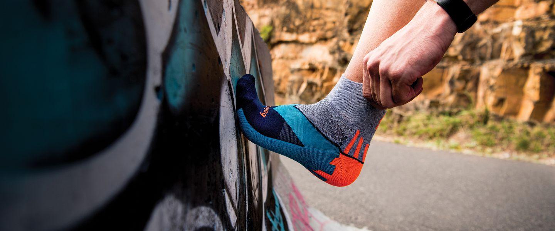 Man wearing Balega Enduro running socks