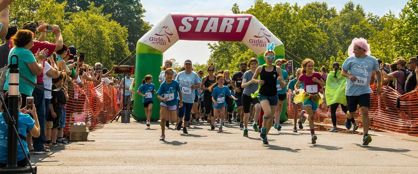 Young girls start a race for Girls On The Run