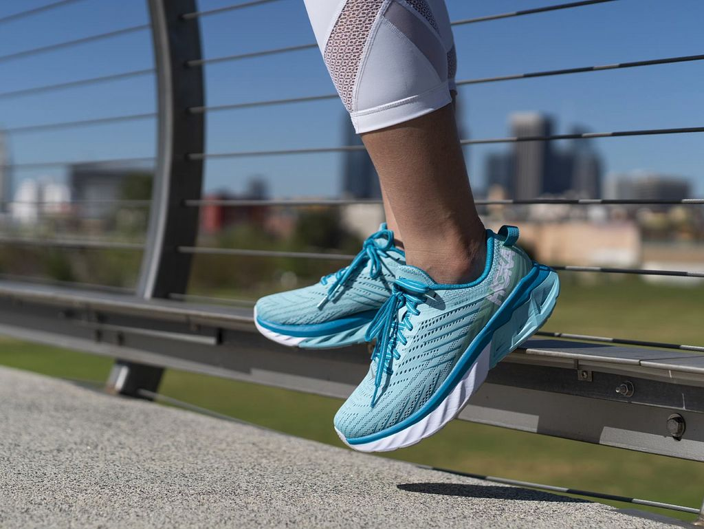 padded running shoes