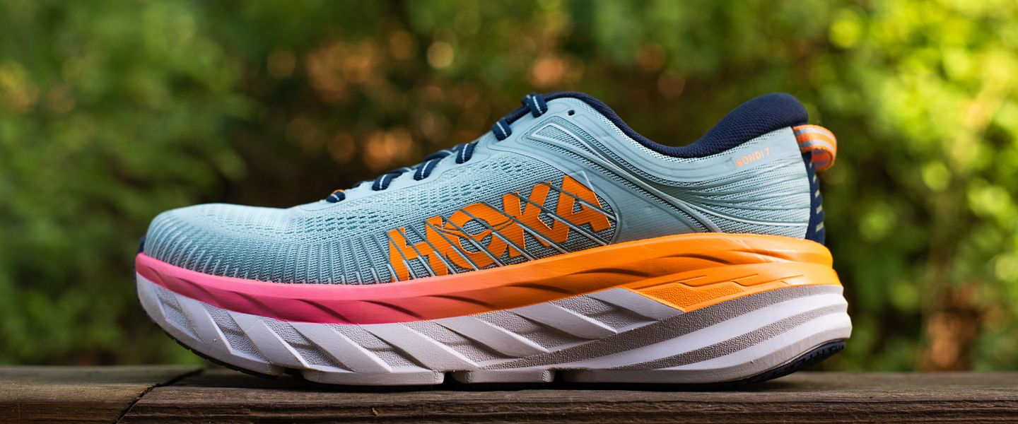 A view of the lateral side of the HOKA Bondi 7