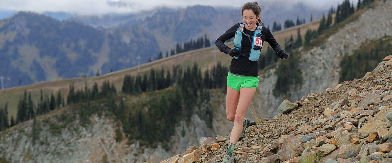 Writer Jade de la Rosa runs on a trail