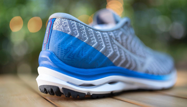 Blue Mizuno Wave Rider 24 Mens Running Shoes