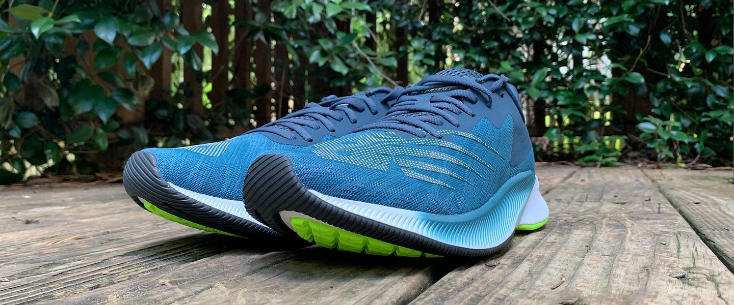 A pair of the New Balance FuelCell Prism running shoes