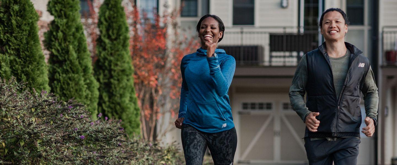Runners wearing New Balance Heat Grid Apparel