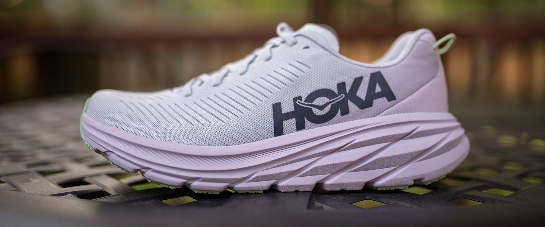 The side of the HOKA Rincon 3 running shoe