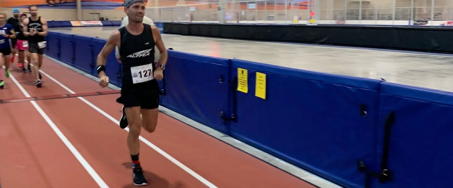 Professional Altra runner Zach Bitter breaks the 100-mile record on a track