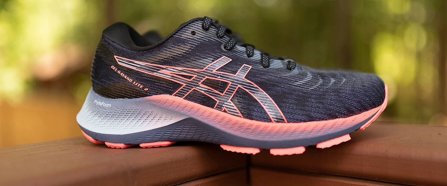 A side view of the women's ASICS Kayano Lite 2