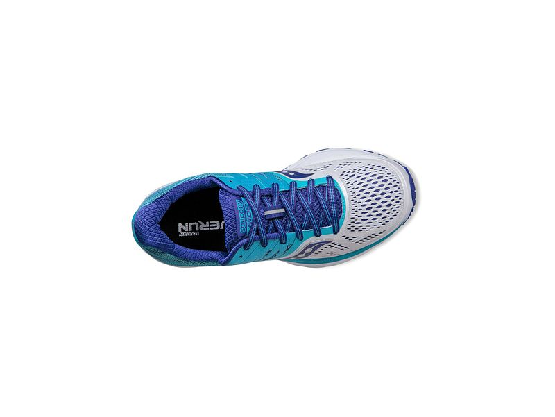 Saucony S10373 3 Ride 10 White Blue Women's Running Shoes