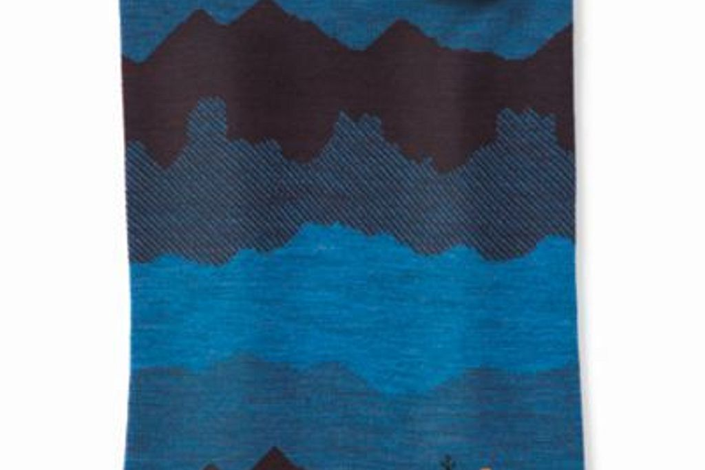 Smartwool Merino 250 Reversible Pattern Neck Gaiter Woodsmoke Mountain Scape 1 Fits Most Unisex